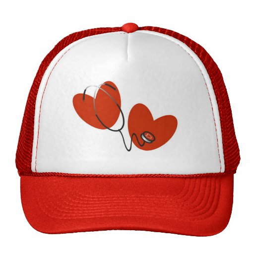 Hearts and Stethoscope T-shirts and Gifts Trucker Hat