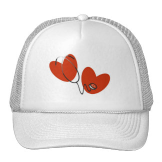 Hearts and Stethoscope T-shirts and Gifts Mesh Hat