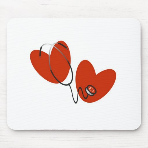 Hearts and Stethoscope T-shirts and Gifts Mousepad