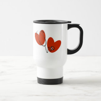 Hearts and Stethoscope T-shirts and Gifts Travel Mug