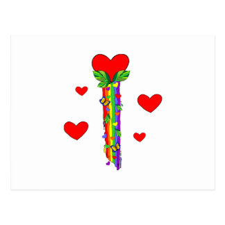 Hearts and Streamers Postcard