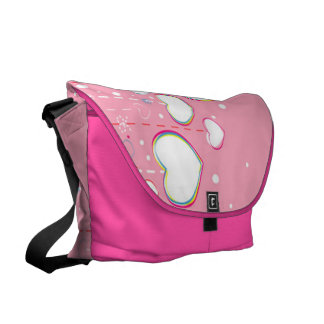 Hearts and Strings Messenger Bag