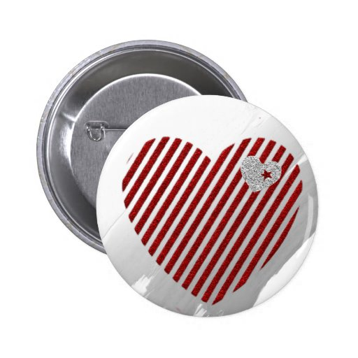 Hearts and Stripes Button