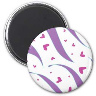 Hearts and Stripes Design Magnet