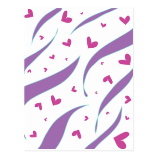 Hearts and Stripes Design Postcard