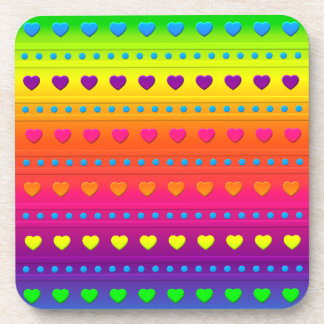 Hearts and Stripes DRINK COASTER