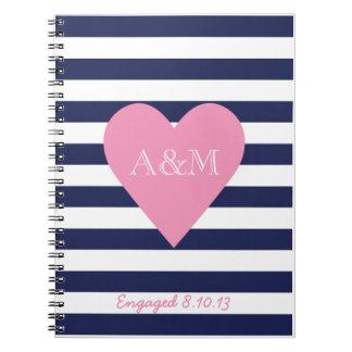Hearts and Stripes Engaged Journal