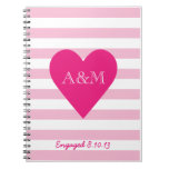Hearts and Stripes Engaged Spiral Note Books