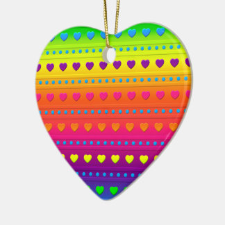 Hearts and Stripes HEART ORNAMENT