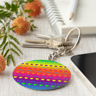 Hearts and Stripes KEYCHAIN