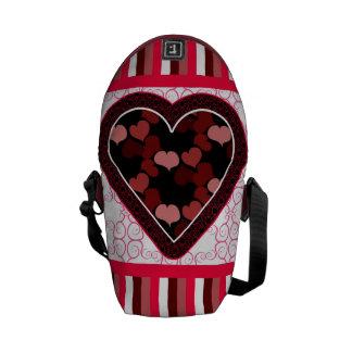 Hearts and Stripes Messenger Bag