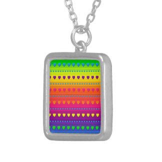 Hearts and Stripes PENDANT NECKLACE
