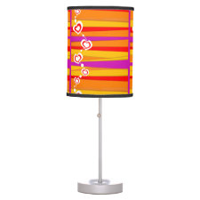 Hearts and Stripes Table Lamp