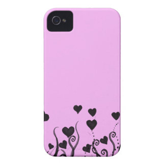 Hearts and Swirls and Ink and Pink iPhone 4 Covers