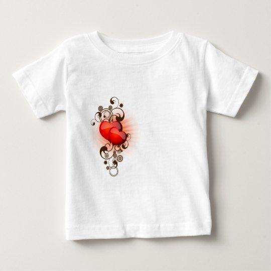 Hearts-and-Swirls Baby T-Shirt