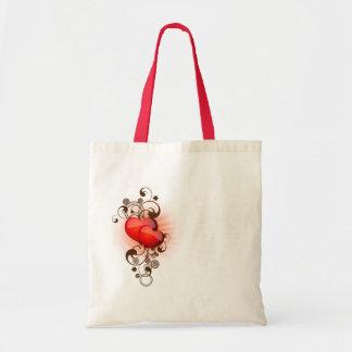 Hearts-and-Swirls Tote Bag