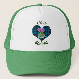 Hearts and Thistles, I love Scotland! Trucker Hat