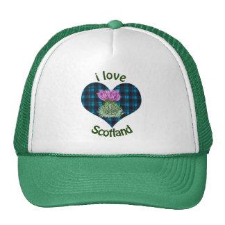 Hearts and Thistles, I love Scotland! Trucker Hat