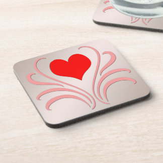 Hearts and Vines Drink Coaster Set (6)