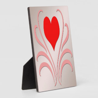 """Hearts and Vines Plaque With Easel 5""""x5"""""""