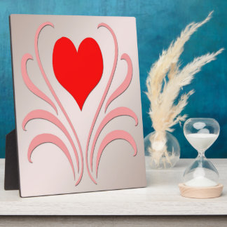 """Hearts and Vines Plaque With Easel 8""""x10"""""""