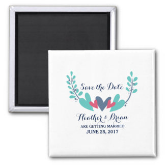 Hearts and Vines Save the Date Magnet