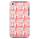 Hearts and Words of Love Barely There iPod Cases