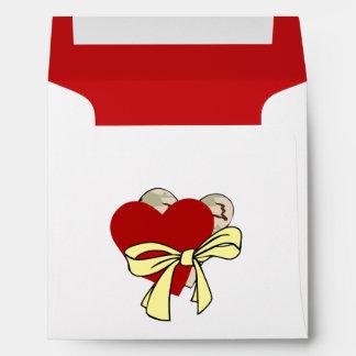 Hearts and Yellow Ribbon Envelope