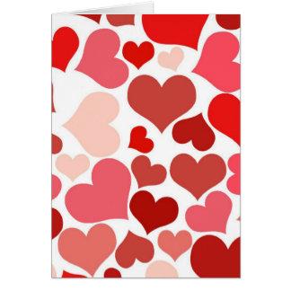 Hearts Anniversary Greeting Card