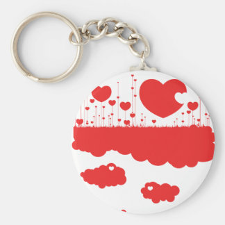 Hearts are a growing! basic round button keychain