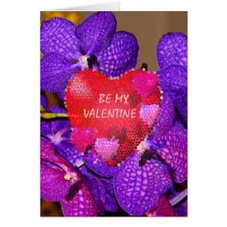 HEARTS ARE RED, ORCHIDS ARE BLUE VALENTINE CARD