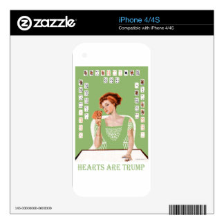 Hearts are Trump! Decal For iPhone 4