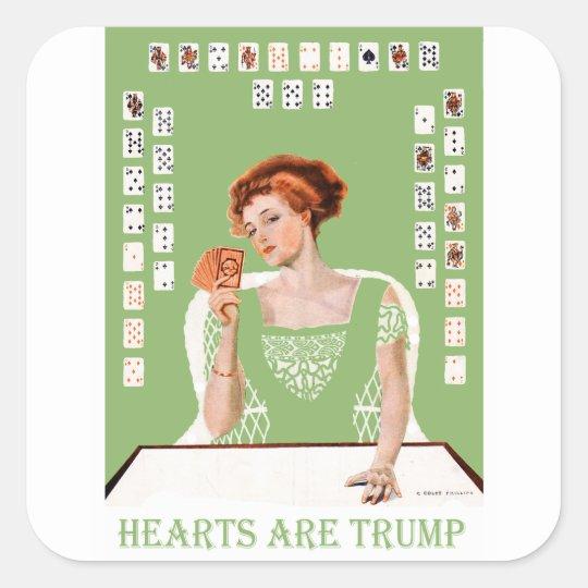 Hearts are Trump! Square Sticker