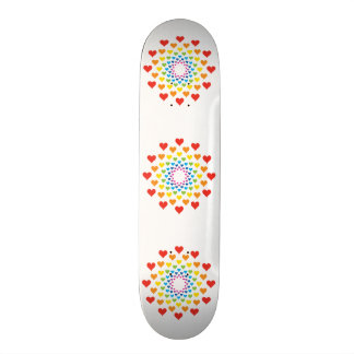 Hearts around hearts skateboard deck