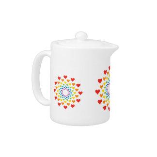 Hearts around hearts teapot
