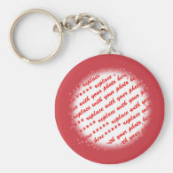 Hearts Around Your Photo Template Basic Round Button Keychain