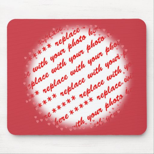 Hearts Around Your Photo Template Mouse Pad