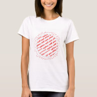 Hearts Around Your Photo Template T-Shirt