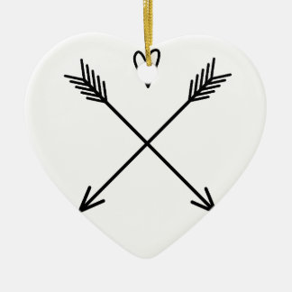 Hearts & Arrows Ceramic Ornament