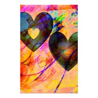 Hearts at Sunrise Stationery