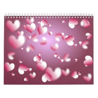 Hearts Background Calendar