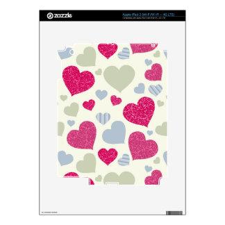 Hearts Background iPad 3 Skin