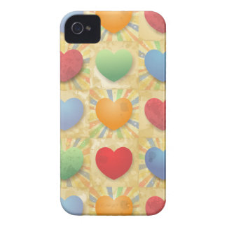 Hearts background iPhone 4 cases