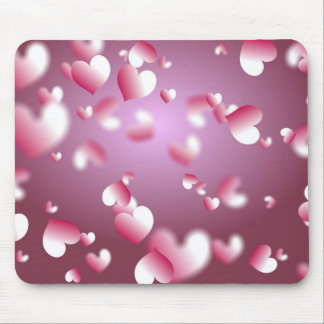 hearts background mouse pad