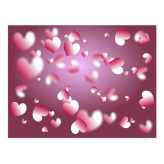 hearts background postcard