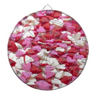 Hearts Background Red Pink White Love Valentine Dart Board