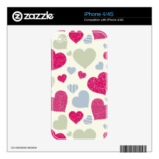Hearts Background Skins For The iPhone 4