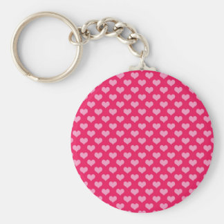 Hearts Background Wallpaper Pink Keychain