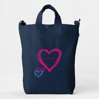 Hearts BAGGU Duck Bag, Indigo Duck Bag