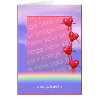 Hearts Balance (photo frame) Greeting Card